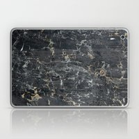 Old Black MarBLe Laptop & iPad Skin