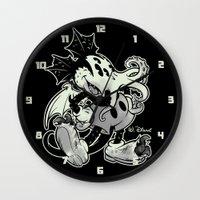 MICKTHULHU MOUSE (monoch… Wall Clock