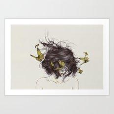 Hair III Art Print