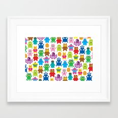 Monsters and Aliens Framed Art Print