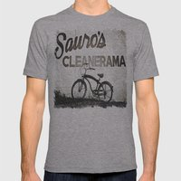 Sauro's Cleanerama Mens Fitted Tee Athletic Grey SMALL