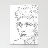 Bob Dylan WordsPortrait  Stationery Cards