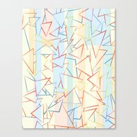 Attack of the Triangles. Canvas Print