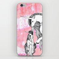 Unicorn And Her Foal iPhone & iPod Skin