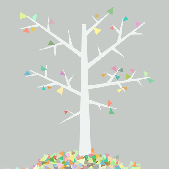 Graphic Tree  Art Print