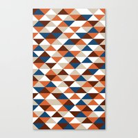 Triangle Pattern #5 Canvas Print