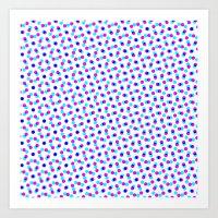 PINK & BLUE DOT Art Print
