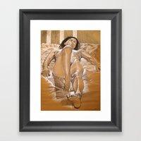 Figure Study of Nude Model, Firenze Framed Art Print