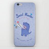 Social Monster Blue iPhone & iPod Skin