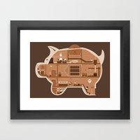 Piggy Bank Framed Art Print