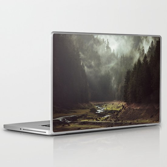 Foggy Forest Creek Laptop & iPad Skin