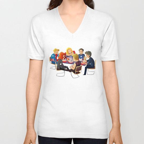 Avengers- Shawarma V-neck T-shirt