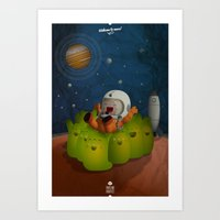 Welcome To Mars! Art Print