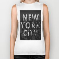 New York City - Black Biker Tank
