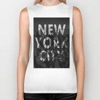 New York City - Black Biker Tank
