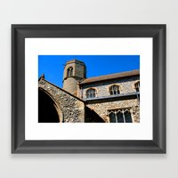 Round Tower - Sedgeford Framed Art Print