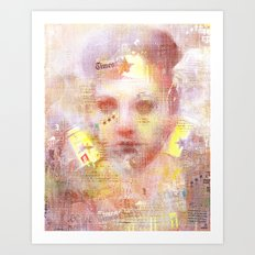 La chica wonder  Art Print