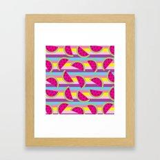 Watermelon party  Framed Art Print