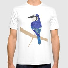 Blue Jay Mens Fitted Tee White SMALL