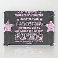 Pink Christmas Chalkboar… iPad Case