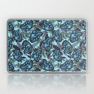Laptop & iPad Skin featuring My Heart Is Frozen by SmallDrawing