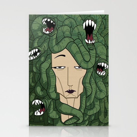 Medusa Stationery Card