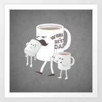 Good Dads Drink Coffee Art Print