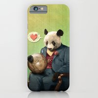 Wise Panda: Love Makes the World Go Around! iPhone 6 Slim Case