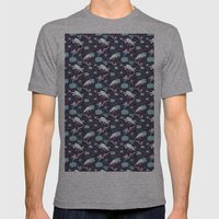 Dance of the Egret Mens Fitted Tee Athletic Grey SMALL