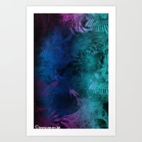 Art Print featuring January Fractal by Timothy DaRoma