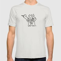 slapfight Mens Fitted Tee Silver SMALL