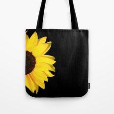 colored summer ~ sunflower black Tote Bag