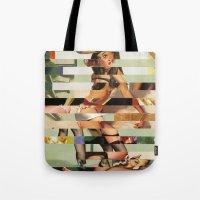 Glitch Pin-Up Redux: Randi Tote Bag