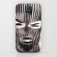 Galaxy S5 Cases featuring Badwood 3D Ski Mask by Badwood