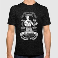 Vintage Boxing - Black E… Mens Fitted Tee Tri-Black SMALL