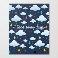 I Love Rainy Days Canvas Print