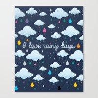 I Love Rainy Days Canvas Print