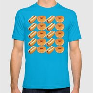 Hot Dogs And Donuts Mens Fitted Tee Teal SMALL