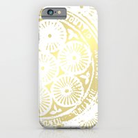iPhone Cases featuring power of one: white gold by EnglishRose23