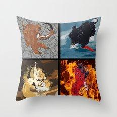 The Elemental Fiends Throw Pillow