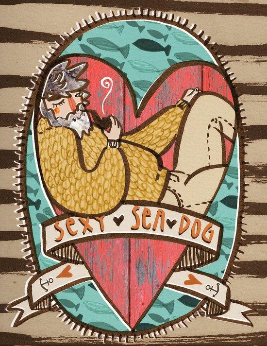 Sexy sea dog Art Print