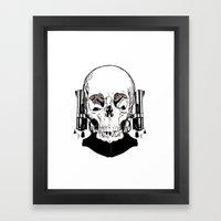 Revolver Beard Framed Art Print