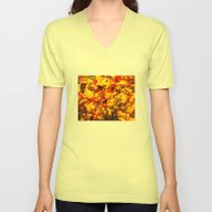 Unisex V-Neck featuring Red And Yellow by Ken Seligson