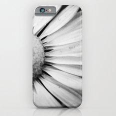Black and White Flower Macro photography monochromatic photo Slim Case iPhone 6s