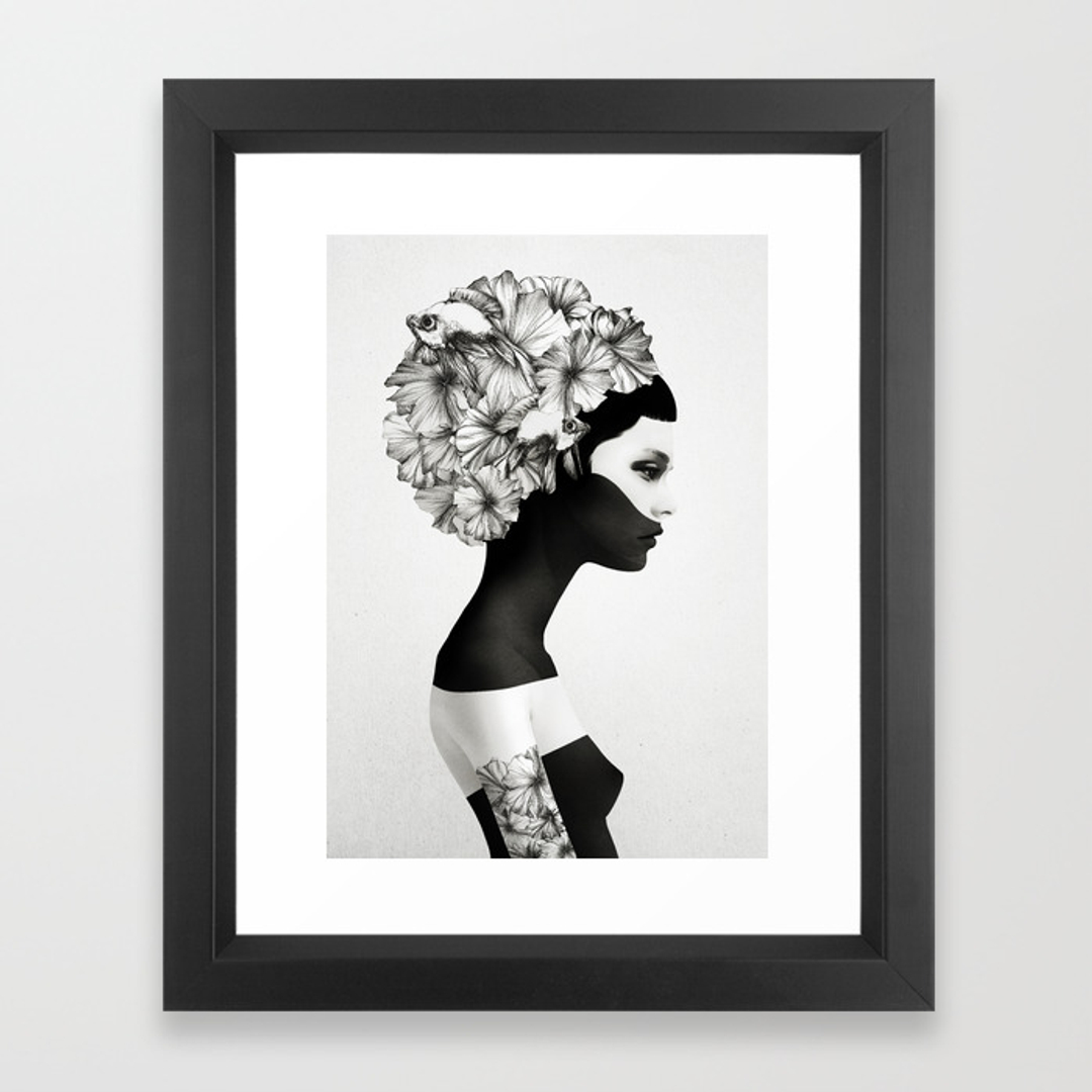 Black-white Framed Art Prints | Society6