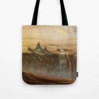 Canion Village Fantasy Landscape Tote Bag
