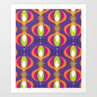 Oohladrop Purple Art Print
