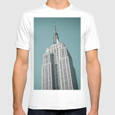 Empire State Building Green Mens Fitted Tee White SMALL