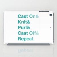 Knitting - Helvetica Amp… iPad Case