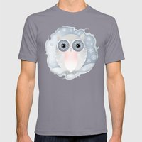 Snowy Owl Mens Fitted Tee Slate SMALL